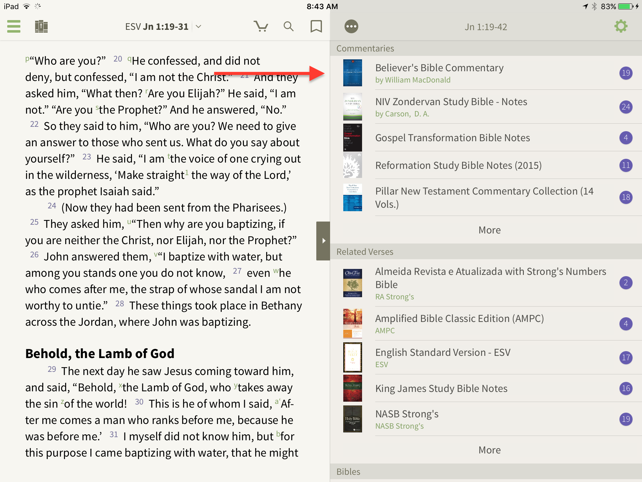 Windows rg edition - The Bible Study App Also Keeps Up With The Scripture Passage You Re Reading In The Main Window With Sync Scrolling This Means That As You Move Along In The