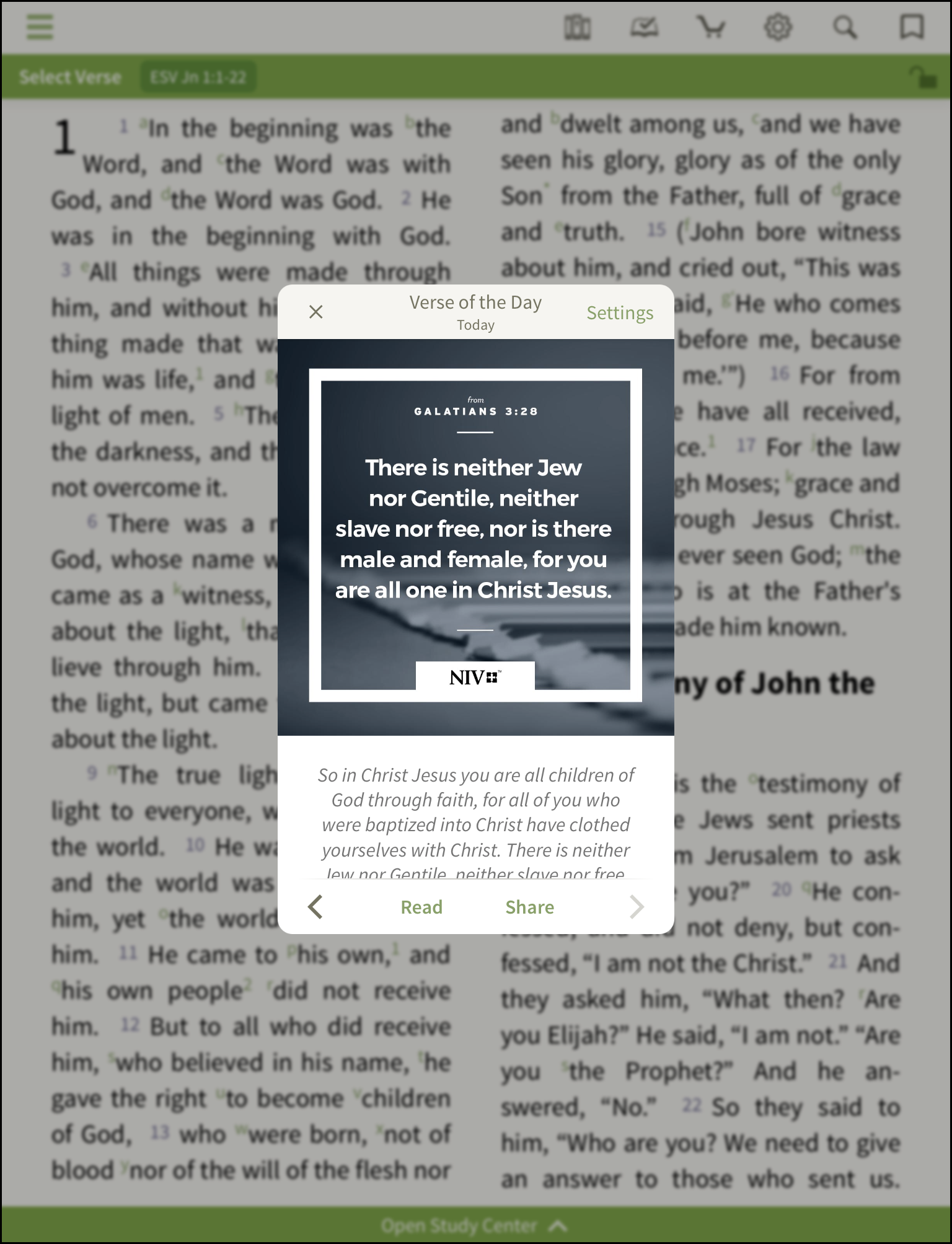 iPhone/iPad - Verse of the Day – Olive Tree