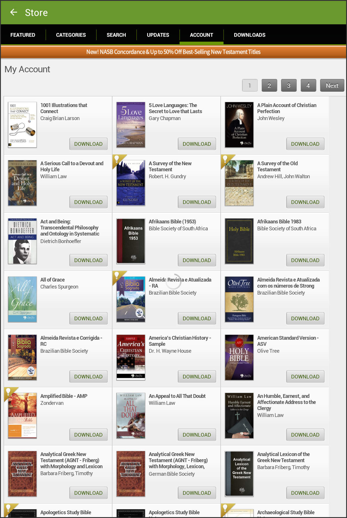 60 android tablet downloading books olive tree the account tab will display all of the titles currently registered to your olive tree account to download a title to your android tablet fandeluxe Gallery