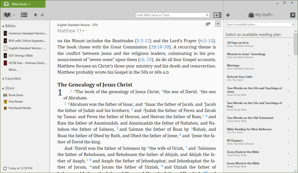 Ipad user guide by olive tree. For the olive tree bible app on.
