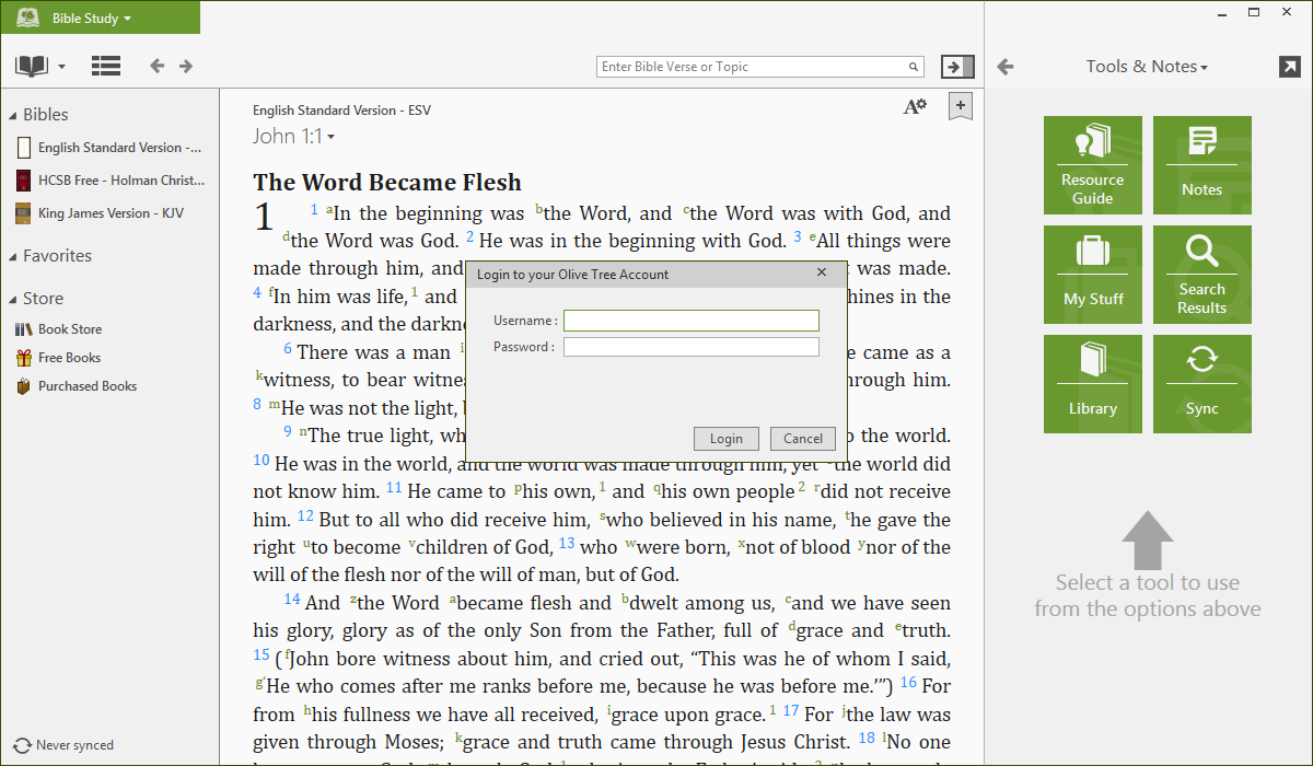 Life application study bible (nlt) for the olive tree bible app on.