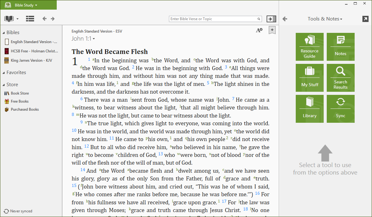 free offline bible download for pc