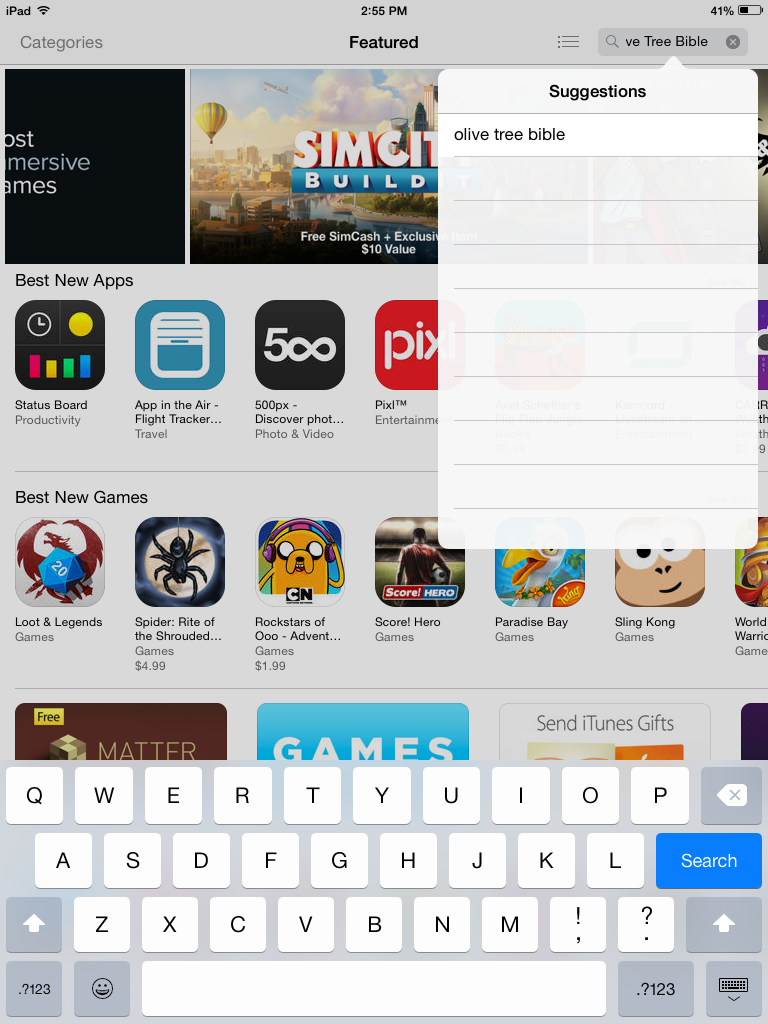 6 0 iPad - Downloading the App – Olive Tree